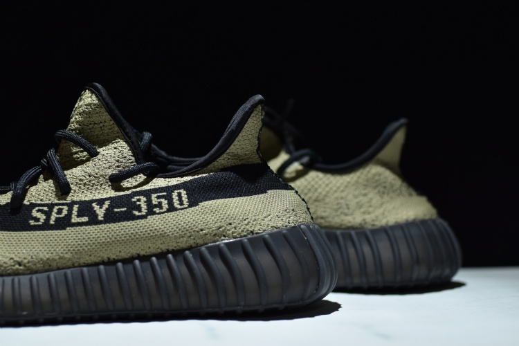 Adidas Yeezy Boost 350 V 2 Core Black Green US 7 BY 9611 In Hand