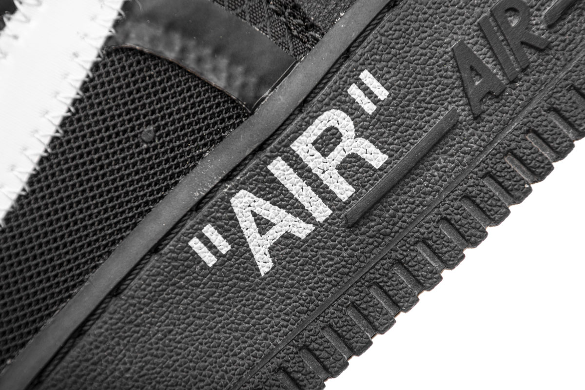 OFF-WHITE x Air Force 1 Low 'Black' AO4606 001