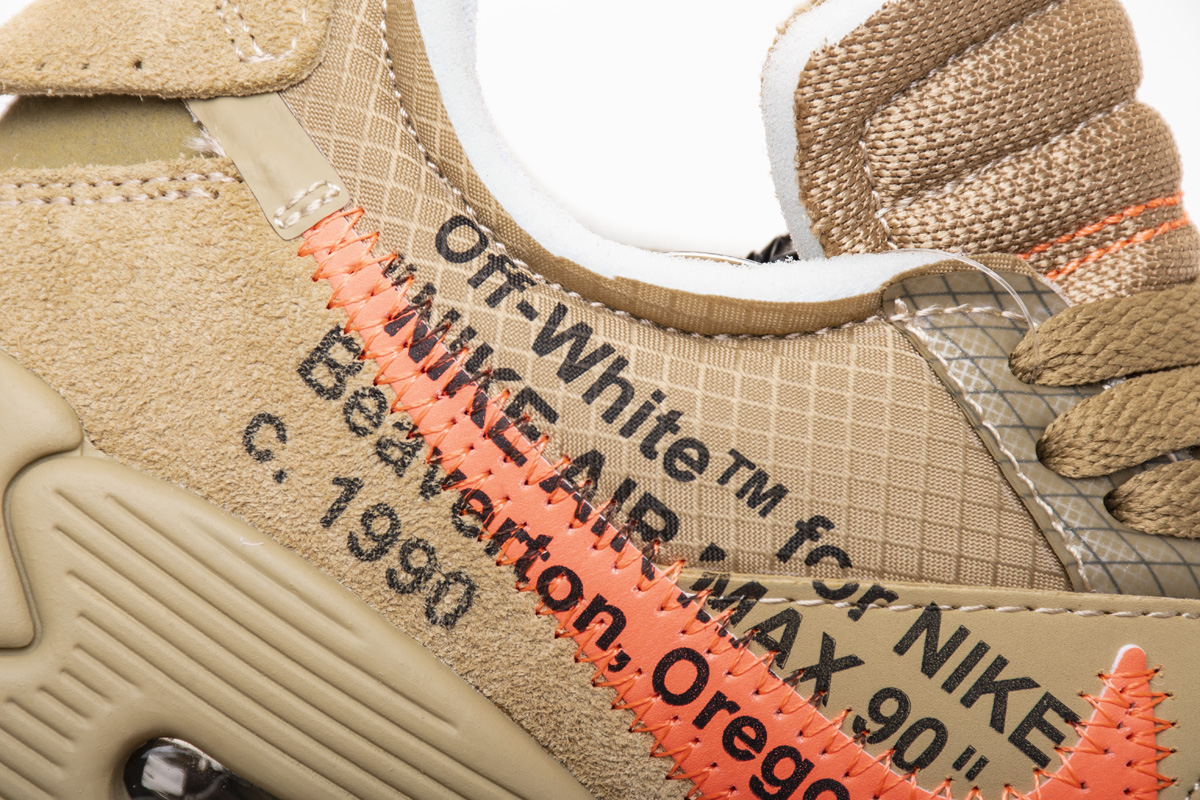 OFF-WHITE x Air Max 90 'Desert Ore' AA7293 200 - Click Image to Close