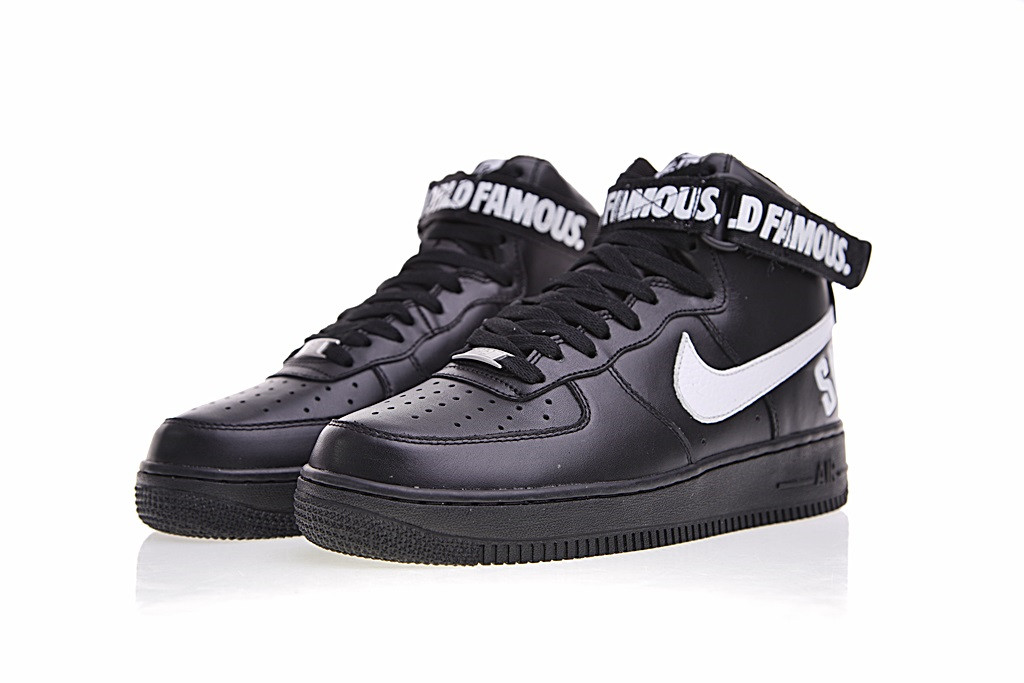 Air Force x Supreme 1 High SP  Black  698696 010 Air Force 1 High ... b13af3eb3b