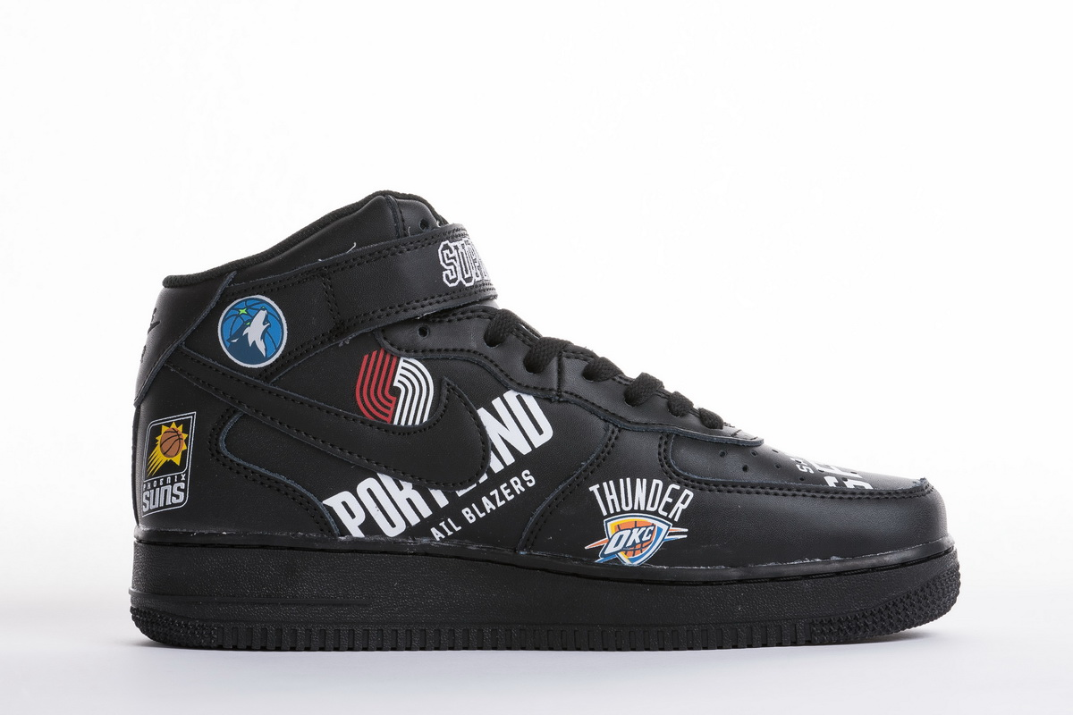Supreme x NBA x Air Force 1 Mid 07 'Black' AQ8017 001