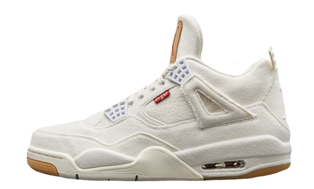 Levi's x Air Jordan 4 Retro 'White Denim' AO2571 100
