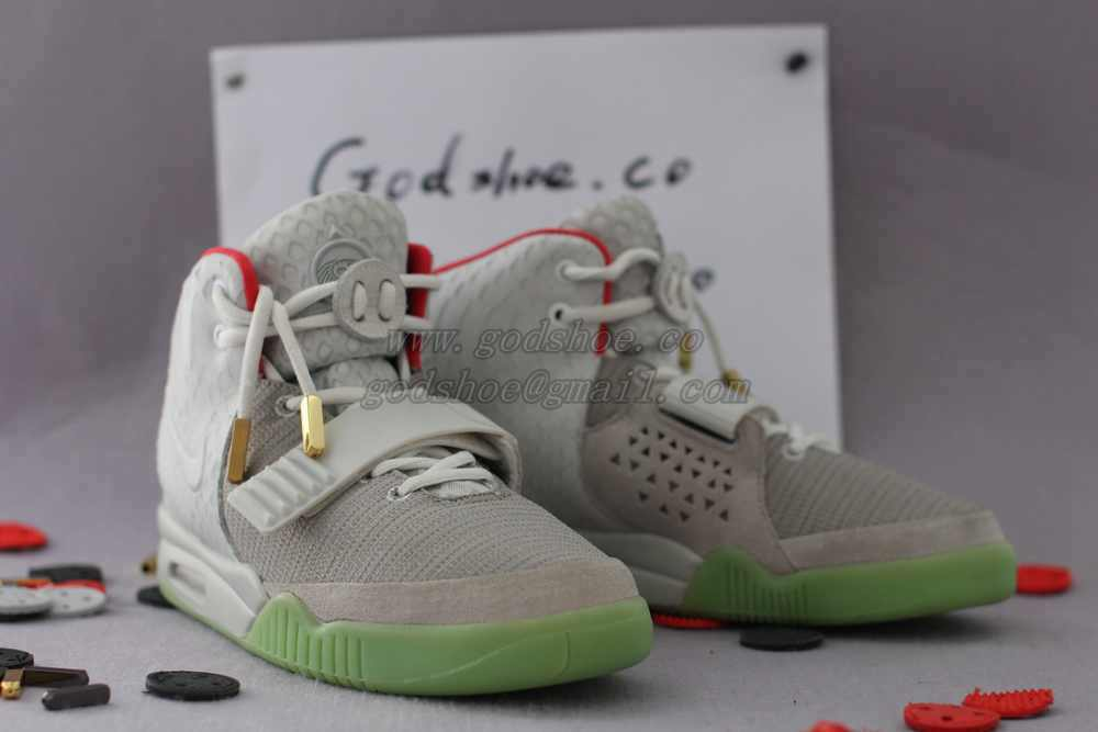 Super Perfect Air Yeezy 2 Wolf Grey Pure Platinum 3m Mesh Kanye
