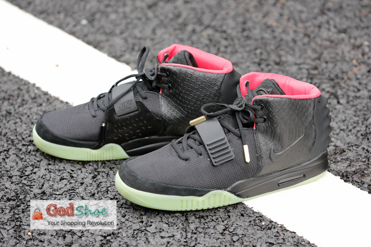 Air Yeezy 2 Black Solar Red new batch improved scales