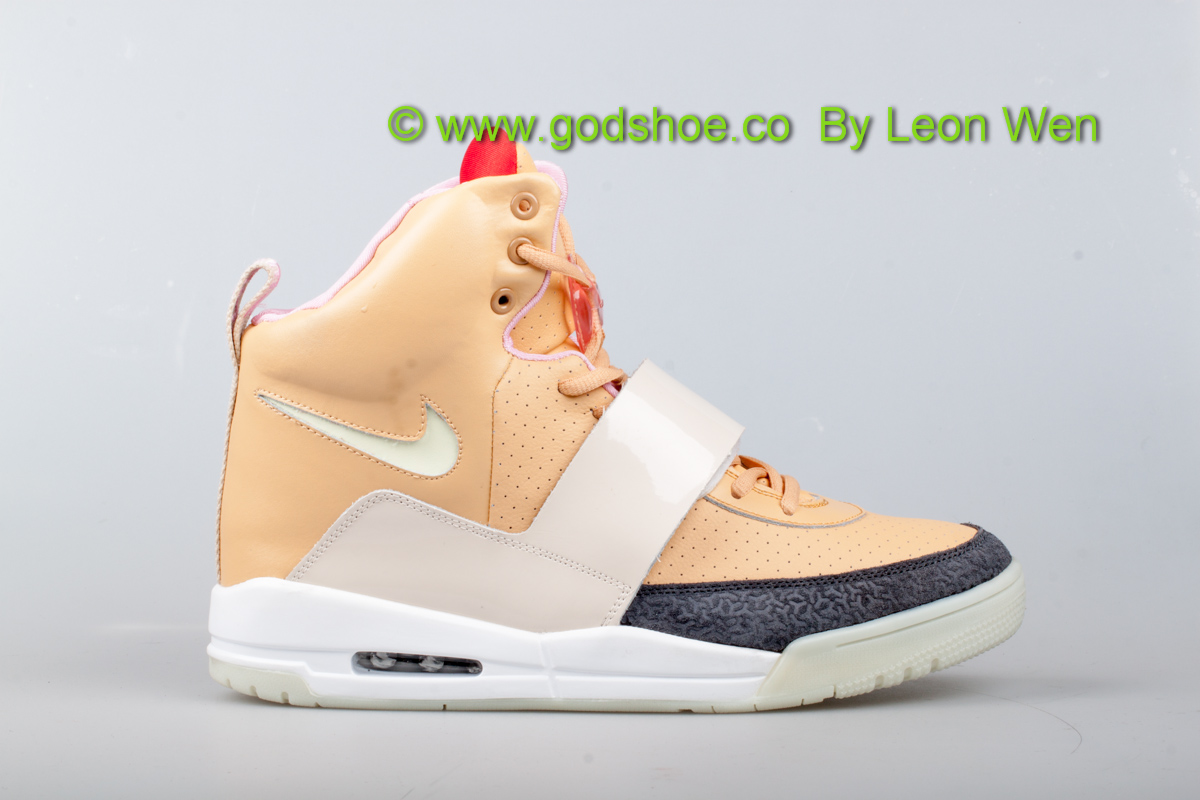 Air Yeezy Net/Net Tan New Batch 2013 Swoosh Glow