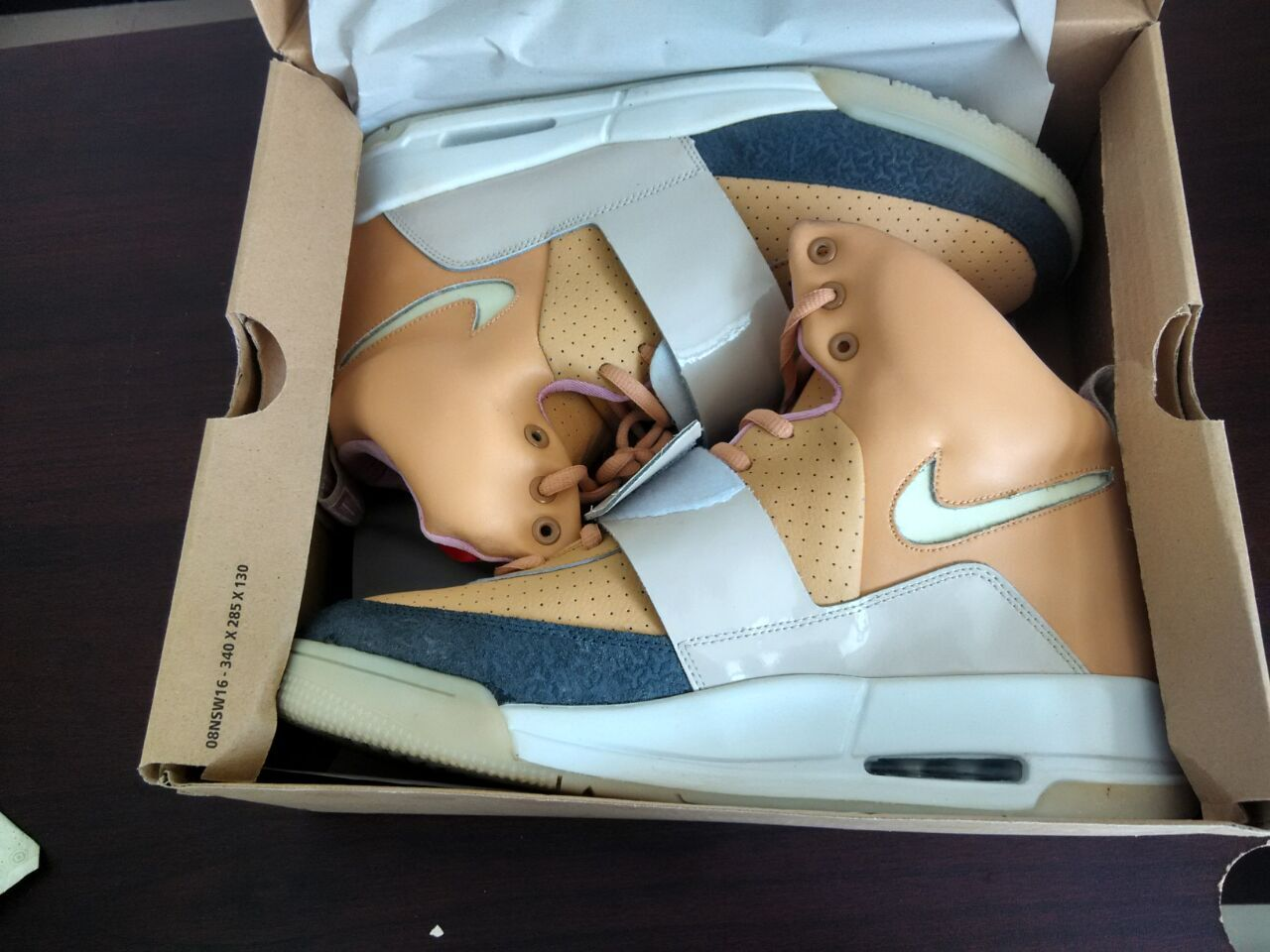 Air Yeezy Net/Net Tan New Batch 2013 Swoosh Glow - Click Image to Close